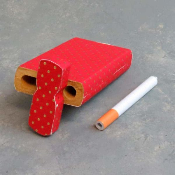 """4.125"""" Dots Overlay Wooden Dugouts w/3"""" Metal Cigarette One-Hitters"""