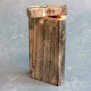 "4.25"" Colored Wood Grain Dugouts w/3"" Metal Cigarette One-Hitters"