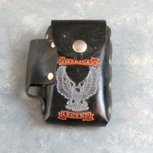 "5"" Leather Cigarette Pack and Lighter Cases w/Belt Loop"