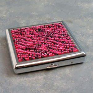"""3.75"""" Rhinestone Designs Flip Open Cigarette Cases"""