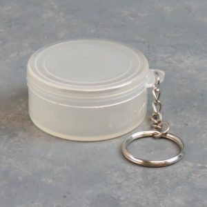 """2"""" Round Plastic Keychain Containers"""