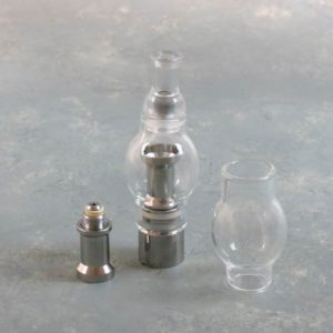 eGo Wax Vapor Globe Metal w/Carbon Filter, Drip Tip & Replacement Parts