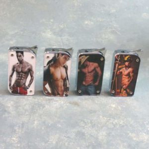 """2.375"""" Sexy Men Refillable/Adjustable Graphic Lighters"""