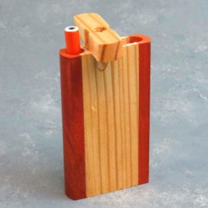 """4.25"""" Two Tone Wooden Dugouts w/ 3"""" Metal Cigarette One-Hitter"""