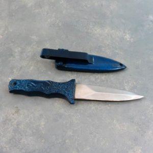 "2.5"" All-Metal Boot Knife w/Metal Sheath and Belt Clip"