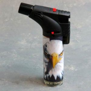 """5"""" Angled American Eagle Techno Torch Refillable/Adjustable/Lockable Single Torch Lighters"""