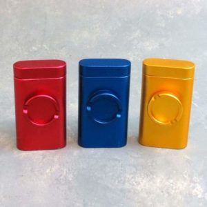 """3"""" Magnetic Metal Dugouts w/Built-In Grinder and 60x8mm pipe"""