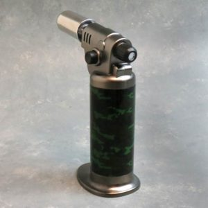"""7"""" Camo Adjustable Dual Torch Jet Lighter w/Side Ignition"""