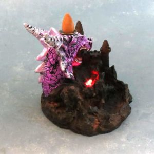 "7"" Dragon Mountain Backflow Incese Burner w/LED Light"