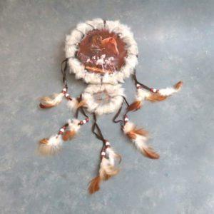 "16"" Wildlife Mandalas w/ Fur, Feathers & Beads"