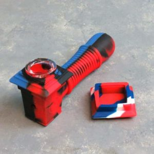 """5"""" Squared Silicone Hand Pipes w/Carb and Cap"""