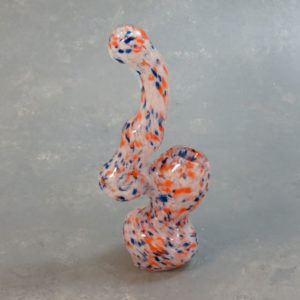 """6"""" Party Dots Small Glass Bubblers"""