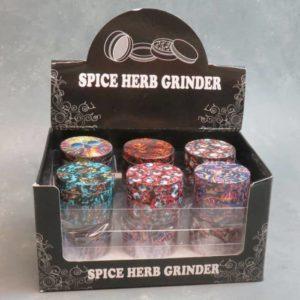 50mm Skulls Graphics 4-Part Grinders w/Scraper
