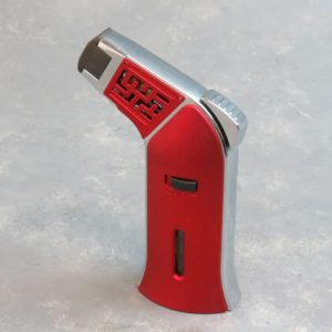 """5"""" Deco Angled Single-Torch Refillable/Adjustable/Lockable Jet Flame Lighters"""