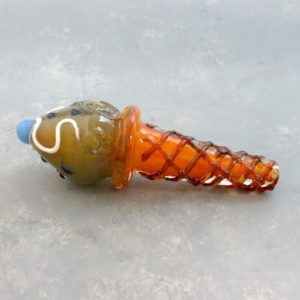 """6"""" Ice Cream Cone Glass Hand Pipes w/Carb"""