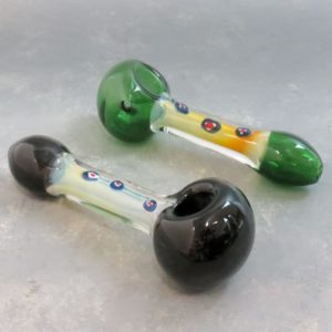 """6"""" Two-Tone Glass Hand Pipes w/Fumed & Accented Stem"""