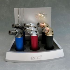 4″ Zico ZD71 Single Torch Jet Flame Windproof Adjustable Refillable Mini Tabletop Torch Lighters