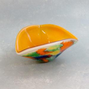 """6"""" Tri-Fold Multicolor Glass Ashtray"""
