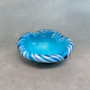 """6"""" Wavy Shell Heavy Glass Ashtray"""