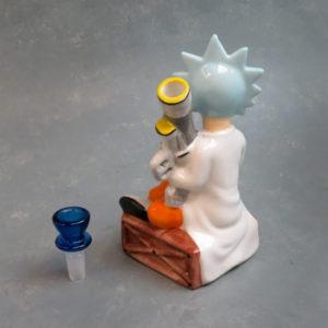 "8"" 'Bazooka Scientist' Ceramic Water Pipe"