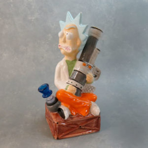 "11"" 'Bazooka Scientist' Ceramic Water Pipe"