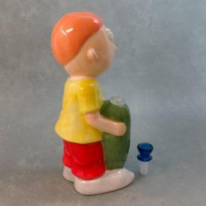 "11"" 'Boy w/ Impressive Pickle' Ceramic Water Pipe"