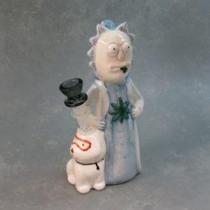 "8"" 'Med Scientist w/Smart Puppy' Ceramic Water Pipe"