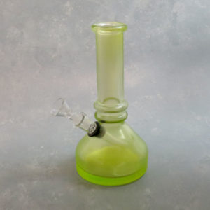 """8"""" Frosted Vase Style Soft Glass Water Pipe w/Rings and GOG Downstem"""