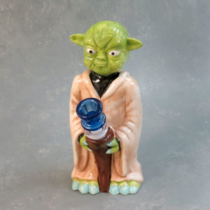 """8"""" 'Green Robe Alien' Ceramic Water Pipe"""