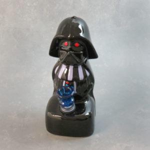"""8"""" 'Black Helmet Commander' Ceramic Water Pipe"""