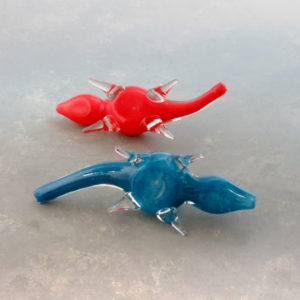 """6"""" Lizard Glass Hand Pipes w/Carb"""