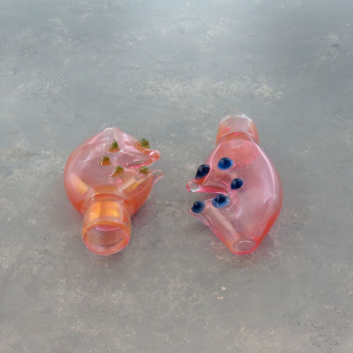 """3"""" Fumed Crab Claw Glass Chillums"""
