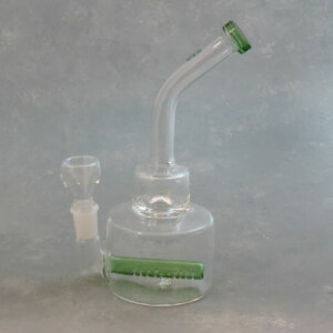 """8"""" Dab-Rig Style Glass Water Pipe w/Colored Inline Perc & Narrow Mouthpiece [Hemper]"""