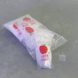 1000pcs .625″ x .625″ Plastic Baggies (10 bags of 100)