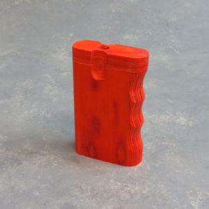"3.25"" Orange Tones Wooden Dugouts w/Grip & 2.25"" Metal Cigarette One-Hitter"