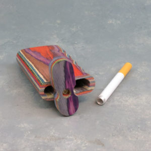"""4"""" Wooden Color Layer Dugouts w/Grip & 3"""" Metal Cigarette One-Hitter"""