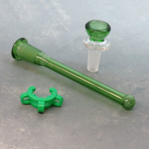 """16"""" Flask-Vase Style Glass Water Pipe w/Ice Catch, Diffused Downstem, and Clip"""