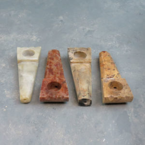 """3.625"""" Stone Hand Pipes w/Notches"""