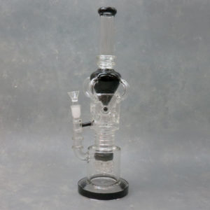 """16"""" Quad Perc Water Ball Recycler Rig Glass Water Pipe"""