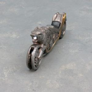 Locking Wolf Motorcycle Racing Knife w/Light
