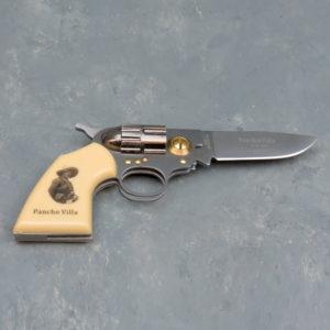 "3"" Revolver Style Collector's Knife - Pancho Villa"