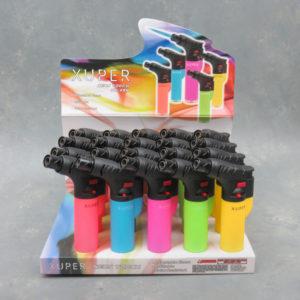 "5"" Xuper Neon Refillable Adjustable Torch Lighters w/Lock"