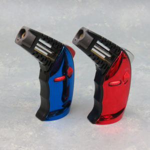 """5.5"""" EverTech Metallic Open-Body Angled Refillable Adjustable Torch Lighters w/Lock"""
