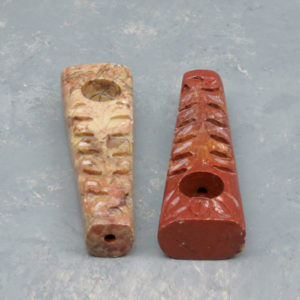 """4"""" Engraved Stone Pipes w/Carb"""