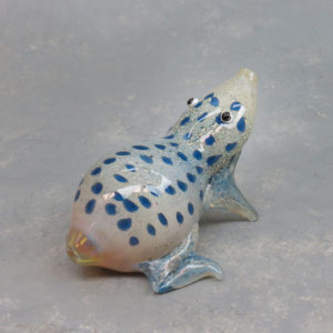 """5"""" Spotted Frog Glass Hand Pipe w/Carb"""