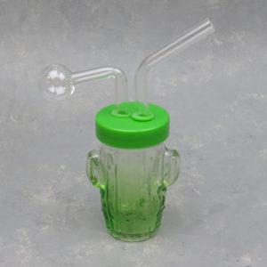 """6"""" Cactus Jar Oil Burner/Bubbler/Water Pipe"""