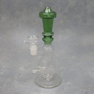 """9"""" Contoured Glass Water Pipe w/Puck Perc"""
