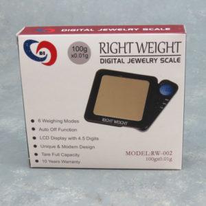Right Weight RW-002 Digital Jewelry Scale 100g x 0.01g