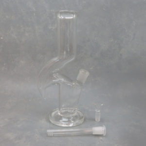"""12"""" Zong Style Clear Glass Water Pipe w/Diffused Downstem"""