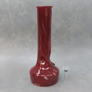 """11.5"""" Semi-Opaque Vase Style Soft Glass Water Pipe w/Ice Catch"""